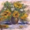 Картина из шерсти «Подсолнухи»