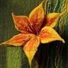 Валяная брошь лилия