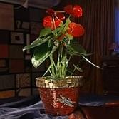 Декорирование цветочного горшка