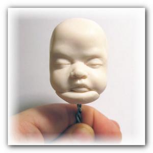 как слепить голову кукле