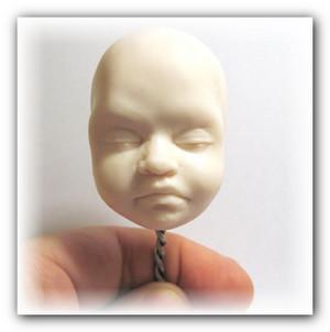 как слепить лицо кукле
