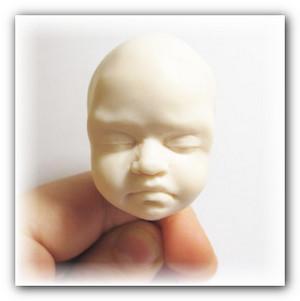 как слепить лицо кукле младенцу