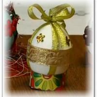Декорирование пасхальных яиц подручными материалами