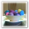 Украшение пасхальных яиц блёстками