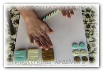 Пуговицы из полимерной глины