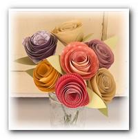 мастер класс роза из бумаги