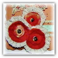 Цветок для скрапбукинга