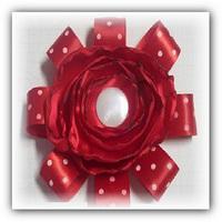 цветок из ткани и лент