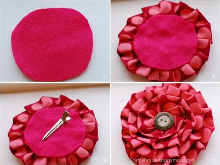 мастер класс цветок из ткани.