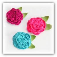 цветочки из трикотажа