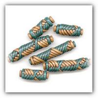 Бусины плетёные из полимерной глины