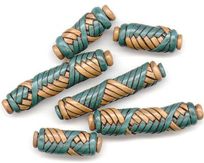 Хорошая ИДЕЯ. http://www.ejrbeads.co.uk/mummybeads.htm.  Шаг 6. Сделайте украшение из бусин плетёных из полимерной...