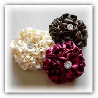 Изготовление цветов из атласной ленты