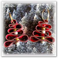 Новогоднее украшение для ёлки из молнии