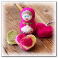 Сухое валяние для начинающих Сердечки 3 способа изготовления