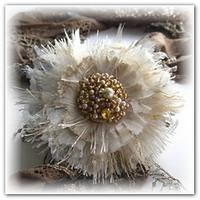 Изящные цветы из ткани мастер класс