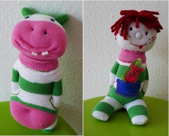 Кукла своими руками из носков видео