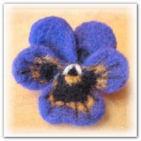 Валяние цветов из шерсти