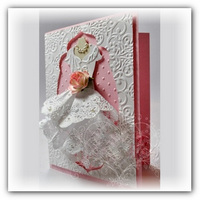 Скрапбукинг свадебные открытки с платьем