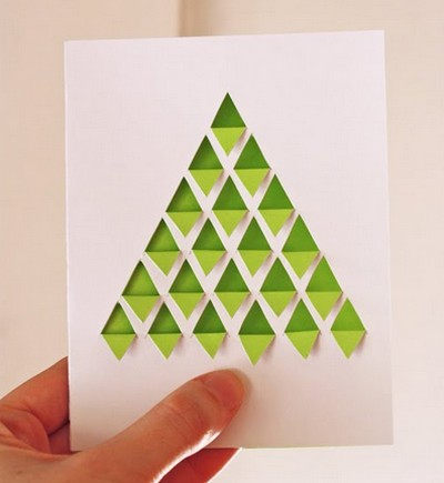 открытка с ёлочкой