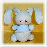 Игрушка-кролик из носка