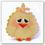 Пасхальные открытки с цыплятами