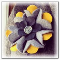 Цветы из фетра украшение одежды