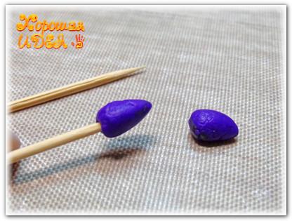 малина из полимерной глины