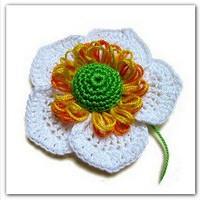 Резинка для волос с цветком анемоны японской