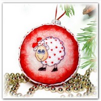 Новогодний шар из шерсти Символ года