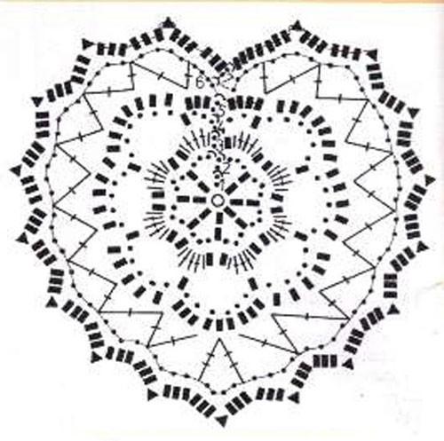 вязаные крючком сердечки схемы