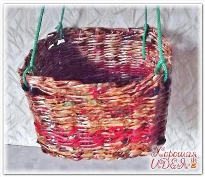 газетные трубочки плетение мастер класс