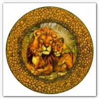 Декупаж тарелки в африканском стиле